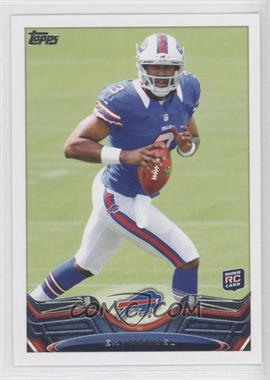 2013 Topps #215.1 - EJ Manuel (moving left, ball at chest)