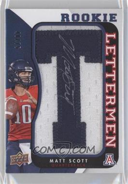 2013 Upper Deck Rookie Lettermen Autographs [???] #RL-MS - Matt Scott /600