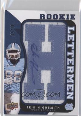 2013 Upper Deck Rookie Lettermen Autographs #RL-EH - Erik Highsmith /50