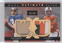 Jim Kelly, Dan Marino /50