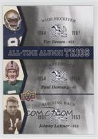 Johnny Lattner, Paul Hornung, Tim Brown