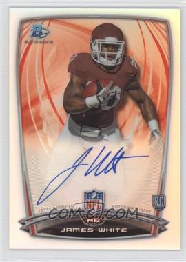 2014 Bowman Rookie Chrome Refractor Autograph #66 - James White