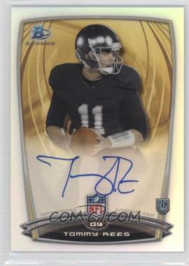2014 Bowman Rookie Chrome Refractor Autograph #87 - Tommy Rees