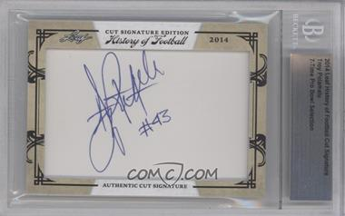 2014 Leaf History of Football Cut Signatures #TRPO - Troy Polamalu [ENCASED]