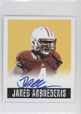 2014 Leaf Originals Yellow Alternate #A-JA1 - Jared Abbrederis /85