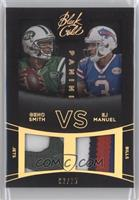 EJ Manuel, Geno Smith /25