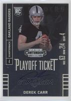 Derek Carr (ball at chest looking at camera) /99
