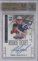 Jimmy Garoppolo (looking to right of card) /27 [BGS 9.5]