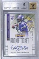 Teddy Bridgewater (throwing, looking to left side of card) [BGS 9]
