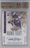 Teddy Bridgewater (throwing, looking to left side of card) [BGS 9.5]