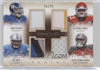 Andre Williams, Austin Seferian-Jenkins, De'Anthony Thomas, Eric Ebron /25