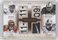 A.J. Green, Sammy Watkins, Darren McFadden, Philip Rivers /3