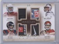 Aaron Murray, Jimmy Garoppolo, Logan Thomas, Tom Savage /5