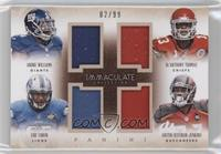 Andre Williams, De'Anthony Thomas, Eric Ebron, Austin Seferian-Jenkins /99