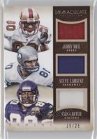 Jerry Rice, Steve Largent, Cris Carter /25