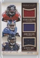 Andre Williams, Devonta Freeman, Ka'Deem Carey /99