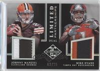 Johnny Manziel, Mike Evans /25