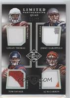 AJ McCarron, Jimmy Garoppolo, Logan Thomas, Tom Savage /25