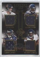 Alshon Jeffery, Brandon Marshall, Jay Cutler, Ka'Deem Carey /50