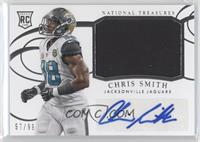 Rookie Materials Signatures - Chris Smith /99