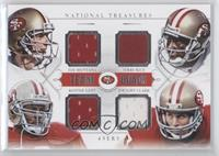 Jerry Rice, Ronnie Lott, Dwight Clark, Joe Montana /49