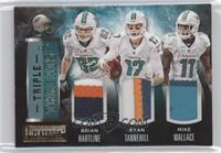 Brian Hartline, Mike Wallace, Ryan Tannehill /5