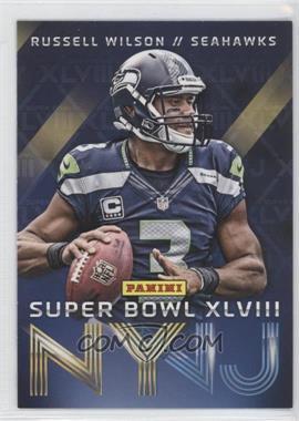 2014 Panini Super Bowl XLVIII Seattle Seahawks #1 - Russell Wilson