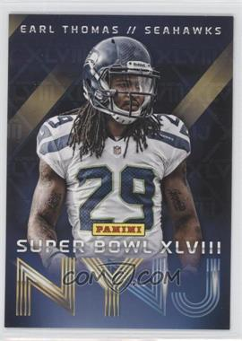 2014 Panini Super Bowl XLVIII Seattle Seahawks #7 - Earl Thomas