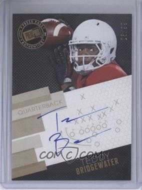 2014 Press Pass - Signings - Gold X's & O's #PPS-TB - Teddy Bridgewater /99