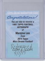 Marqise Lee [REDEMPTION Being Redeemed] #/15