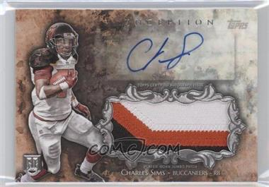 2014 Topps Inception Autograph Jumbo Patch #IAJP-CS - Charles Sims