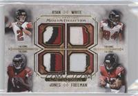Matt Ryan, Roddy White, Julio Jones, Devonta Freeman /25