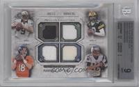 Drew Brees, Aaron Rodgers, Peyton Manning, Tom Brady /99 [BGS 9]