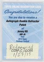 Jeremy Hill [REDEMPTION Being Redeemed]