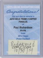 Paul Richardson /50 [REDEMPTIONBeingRedeemed]