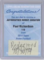 Paul Richardson [REDEMPTIONBeingRedeemed]