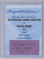 Carlos Hyde [REDEMPTIONBeingRedeemed]