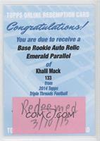 Khalil Mack /50 [REDEMPTIONBeingRedeemed]