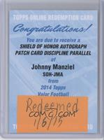 Johnny Manziel /25 [REDEMPTION Being Redeemed]
