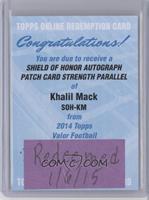 Khalil Mack /75 [REDEMPTIONBeingRedeemed]