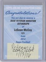 LeSean McCoy [REDEMPTION Being Redeemed]