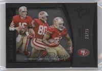 Joe Montana, Frank Gore, Jerry Rice /25