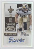 Rookie Ticket - Davis Tull (Team Logo) /25
