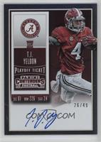 Rookie Ticket RPS - T.J. Yeldon (College) /49