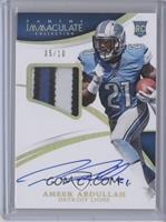 Rookie Patch Autographs - Ameer Abdullah /10