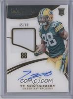 Rookie Patch Autographs - Ty Montgomery /88