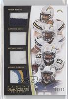 Keenan Allen, Antonio Gates, Melvin Gordon, Philip Rivers /10