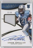 Rookie Patch Autographs - Ameer Abdullah /99