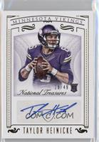 Rookie Signatures - Taylor Heinicke /49