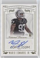 Rookie Signatures - Mario Edwards Jr. /49